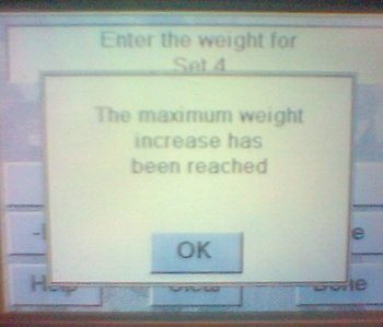 Maximum Weight Reached